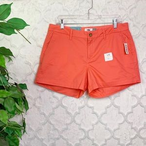 Old Navy Orange Chino Shorts NWT